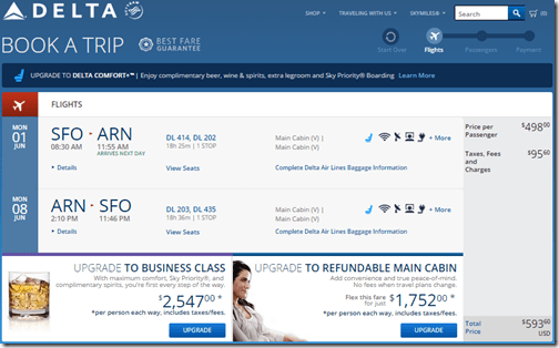 SFO-ARN June1-8 DL $594
