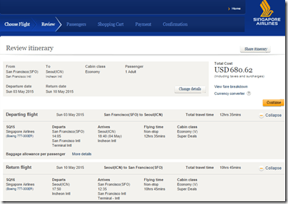 SFO-ICN $696 SQ May15