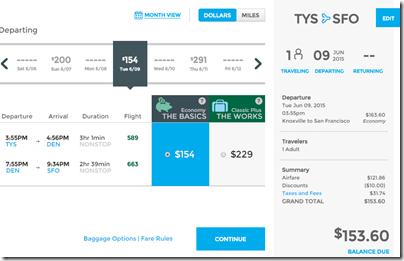 TYS-SFO Frontier PLAYBALL $154