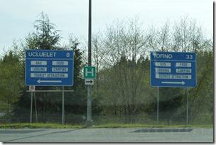 Tofino road sign