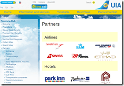 Ukraine Airlines Panorama Club air partners