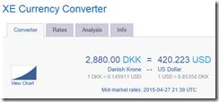 XE DKK-USD conversion