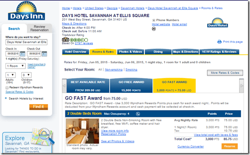 Days Inn Savanna Go Fast $86