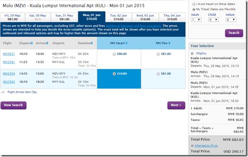 KUL-MZV $200 Malaysia