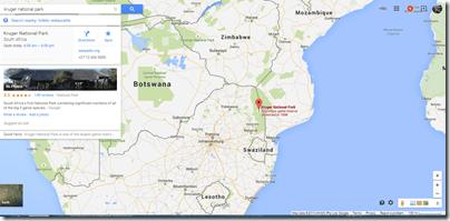 Kruger NP South Africa google maps