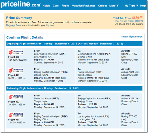 LAX-NRT Air China $690 Sep15
