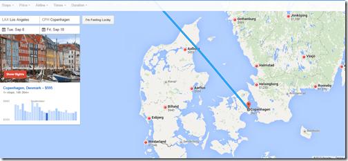 Google Flights tutorial Denmark fares