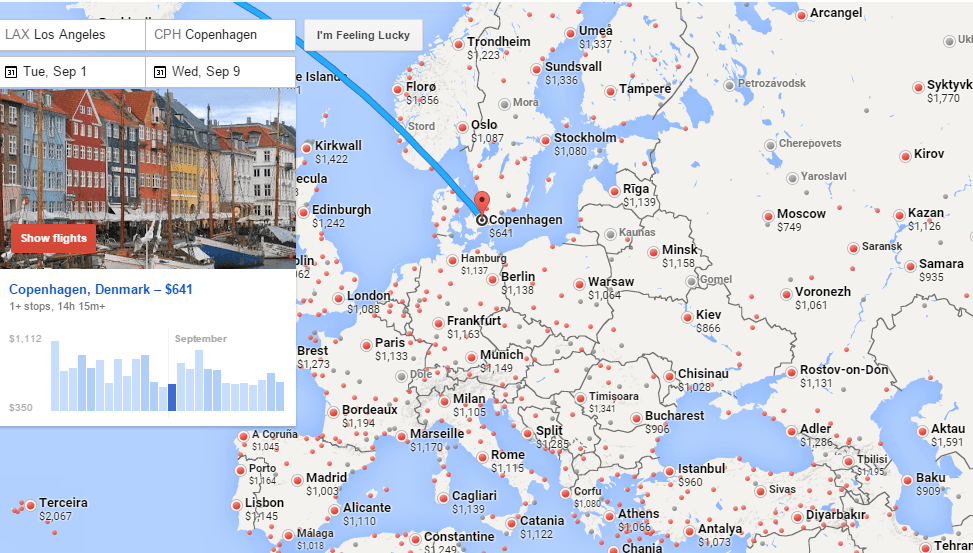 Using Google Flights