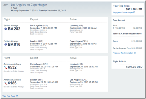 LAX-CPH BA Sep7-29 $691