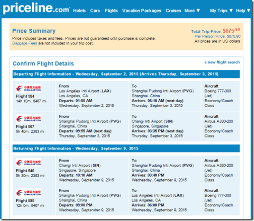 LAX-SIN $676 China Eastern sep15