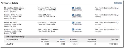 MEX-LIM Copa $151 Aug15