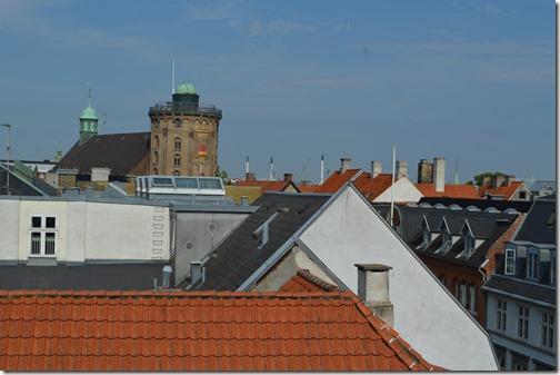 Skt Petri Round Tower view