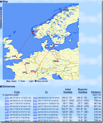 GCMAP Ric Europe flights Sep15