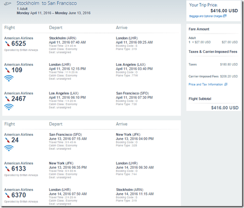 ARN-SFO $416 Apr11-Jun13