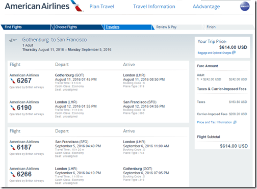 GOT-SFO $614 Aug 11-Sep 5