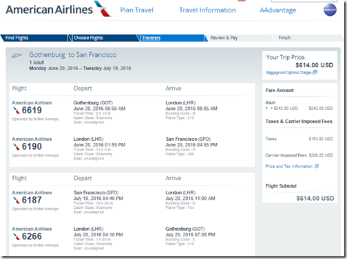 GOT-SFO AA $614 June 20-July19