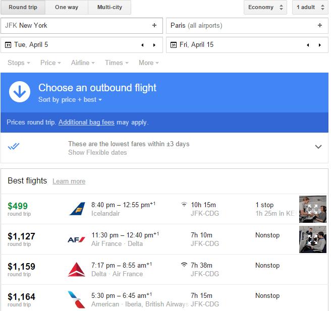 Icelandair 499 New York Jfk To Paris Cdg Jan To April