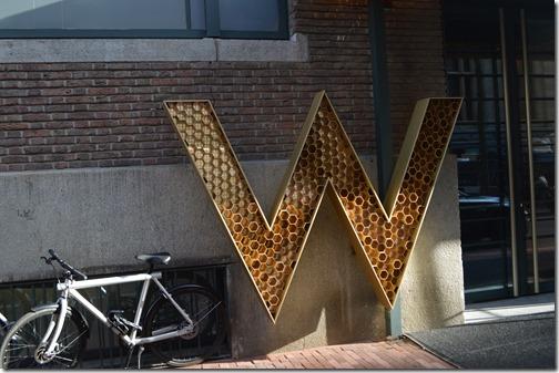 W AMS sign