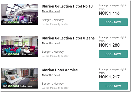Clarion Hotels Bergen