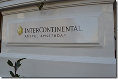 InterContinental Amsterdam sign