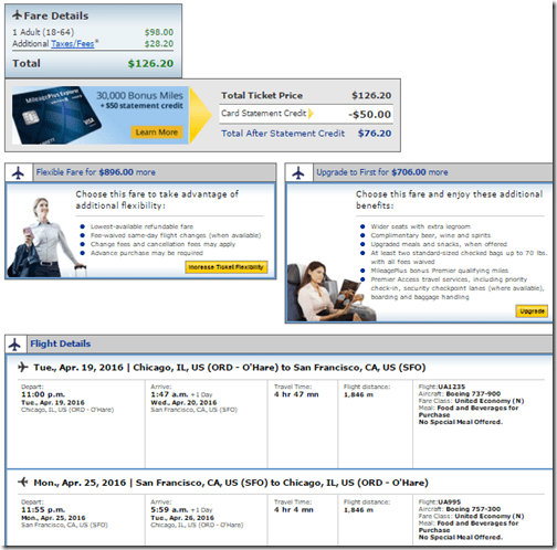ORD-SFO-UA $126.20 Apr19-25