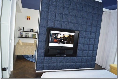 Andaz Suite bedroom TV