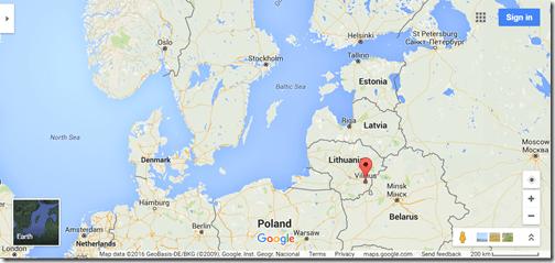 Google Maps Vilnius Lithuania Europe location