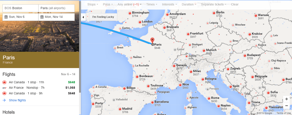 Aa Direct Flights From Boston To Europe All The Best Flight In - Airline flights map of france to us