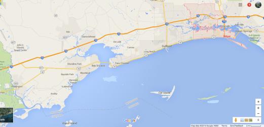 mississippi coast gulf maps google orleans biloxi road trip ocean river 9th ward vegas las loyaltytraveler boardingarea