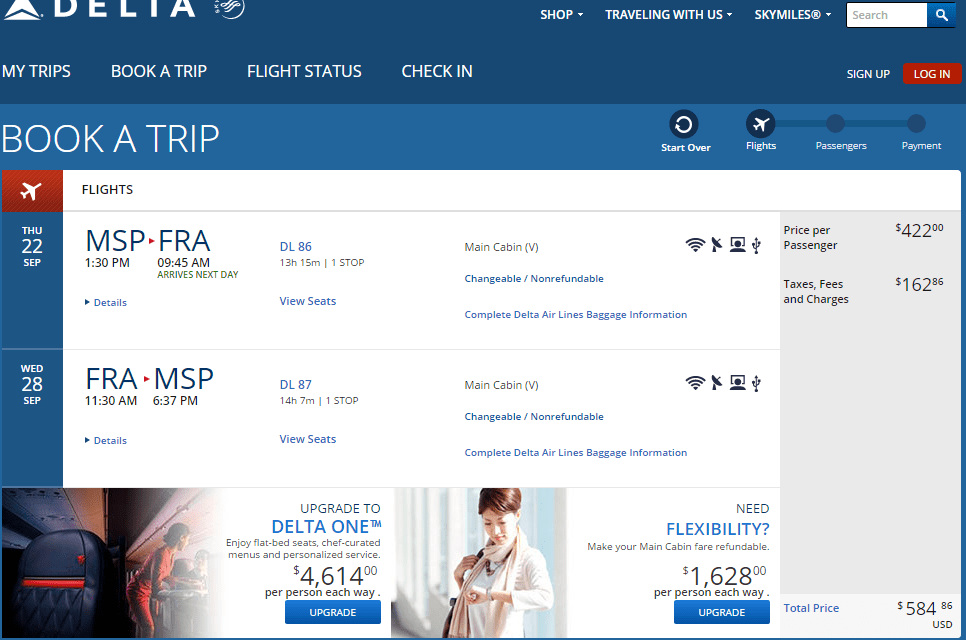 Delta flight deals from msp