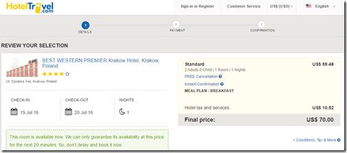 BW Krakow Hoteltravel.com