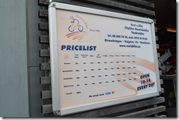 Bike rental prices