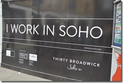 Soho Work sign