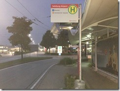 Salzburg airport bus stop2