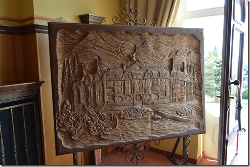wood cut in lobby entrance