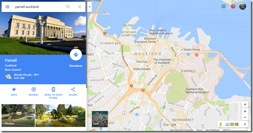 Google Maps Parnell Auckland