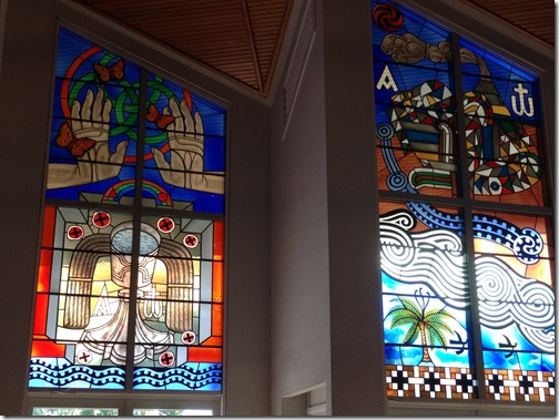 Holy Trinity glass murals