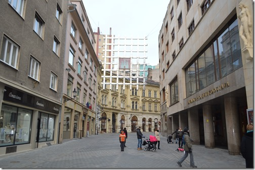 Pedestrian alley in city center