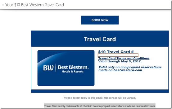 BW $10 TravelCard image