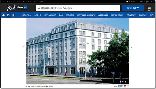 Rad Blu Wroclaw building