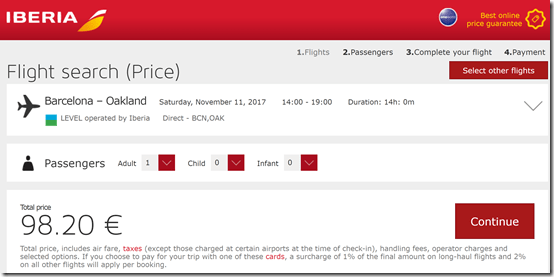 BCN-OAK $106 IB Nov11