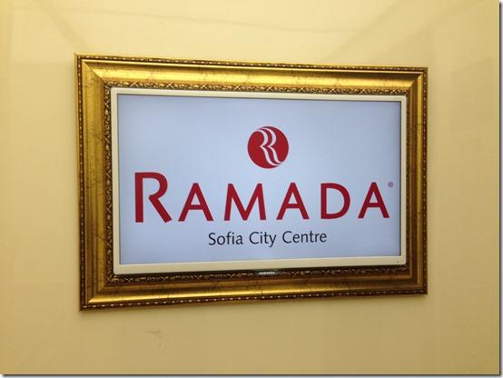 Ramada Sofia sign