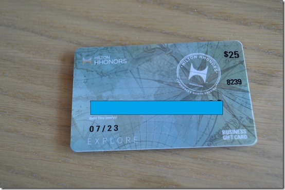 Hilton Honors gift card