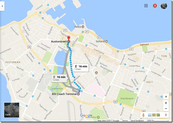 Reykjavik BSI to Austurstræti