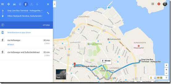 Reykjavik GrayLine to Hilton