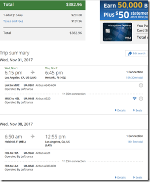 LAX-HEL $383 LH Nov1-8