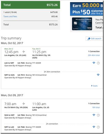 LAX-SGN $574 UA Oct2-9