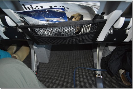 BA seat 43H-J underseat space