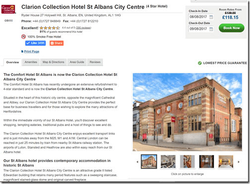 Choice London Clarion St. Albans