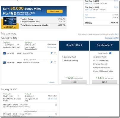 LAX-CDG $539 UA Aug15-24